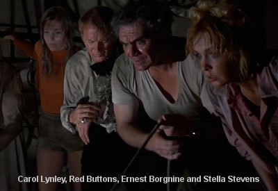 Carol Lynley, Red Buttons, Ernest Borgnine and Stella Stevens