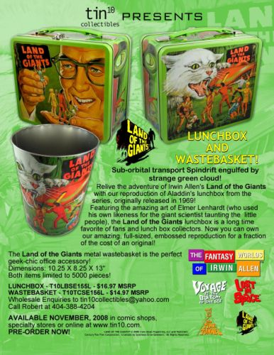 Land of the Giants lunch box and waste basket
