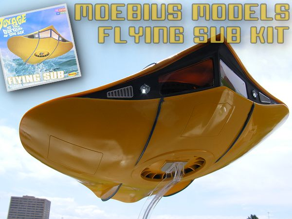 Steve Causey's build of the Moebius Models Flying Sub Kit