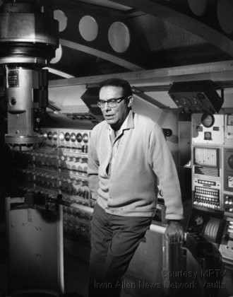 Irwin Allen on the set of Voyage to the Bottom of the Sea