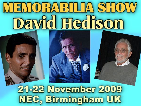 David Hedison attending Winter Memorabilia Show at the NEC in Birmingham UK