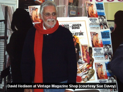 David Hedison at the Vintage Magazine Shop 2008