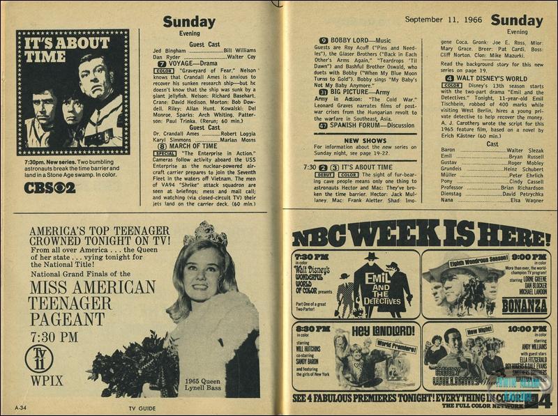 TV Guide 10-16 September 1966